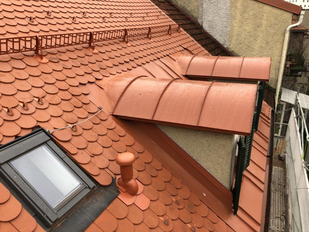 Blechdach-Tonenndach, ausgeführt in der Grazer  Altstadt