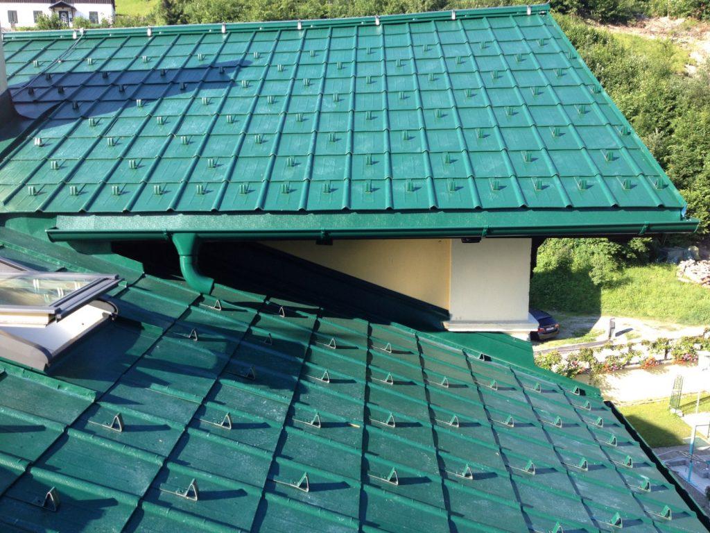 Prefa-Aluminium-Dachschindel, ausgeführt im Zuge einer Dachsanierung in Bad-Aussee